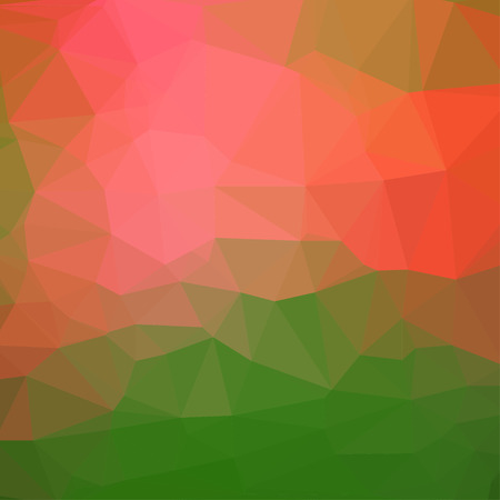 fondo geometrico: Fondo cuadrado abstracto rojo y verde geom�trica que consiste en tri�ngulos de colores. Vectores