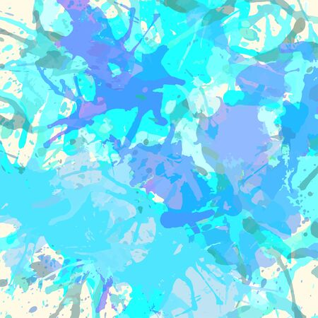 pastel colored: Pastel colored blue artistic paint splashes, square format.