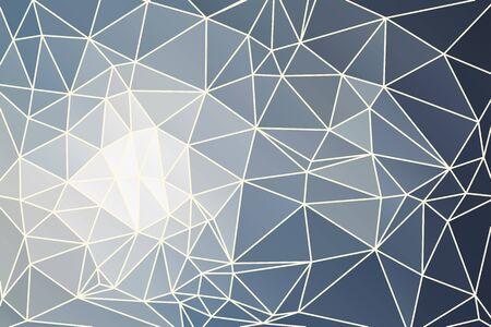 fondo geometrico: Fondo geom�trico abstracto gris que consiste en tri�ngulos de colores y malla de luz.