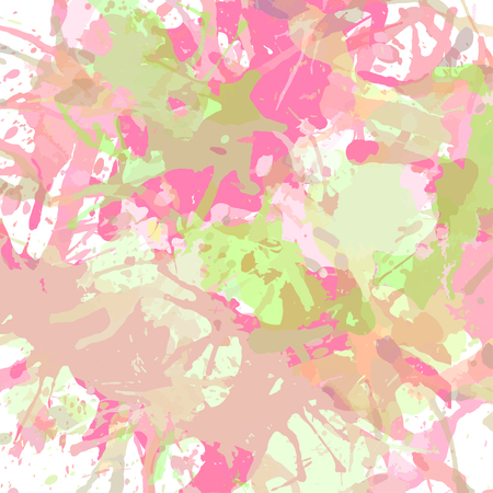pastel colored: Pastel colored pink and green artistic paint splashes, square format.