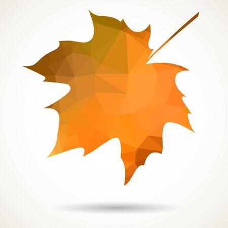 creative arts: Maple leaf in triangular style with dropped shadow.