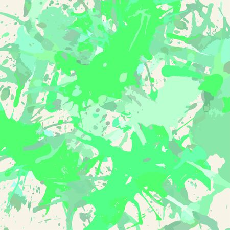 pastel colored: Pastel colored green artistic paint splashes, square format. Illustration