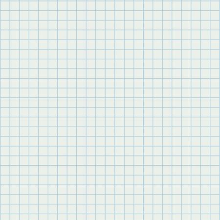 college ruled:  illustration of white squared school paper sheet. Illustration