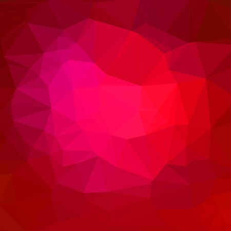 luminosity: Red abstract square geometric background consisting of colored triangles. Illustration