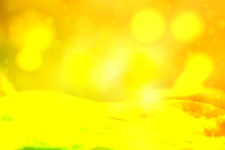 photography backdrop: Yellow abstract smooth blur background with blurry lights. Illustration