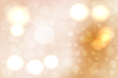 Abstract smooth blur beige background with bokeh lights over it. Illustration