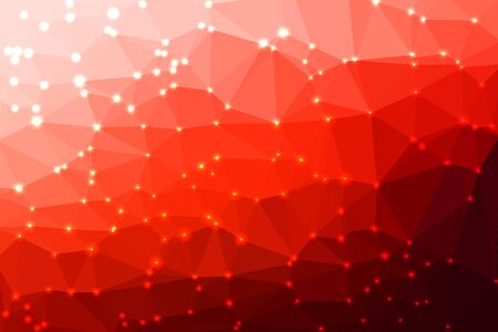 mosaic background: Red abstract geometric background consisting of colored triangles with lights in corners.