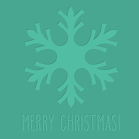hand written: One letterpress embossed snowflake and hand written Christmas greetings.