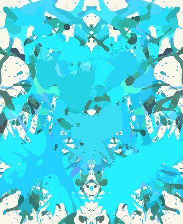 horizontal format: Bright blue artistic paint splashes, horizontal format.
