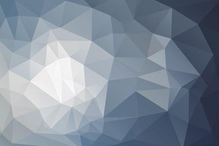 Abstract triangular geometry background in blue-gray color. Stock Illustratie