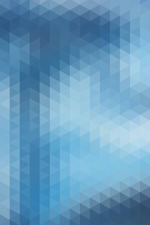 vertical format: Abstract blue geometric background formed with triangles in rows, vertical format. Illustration
