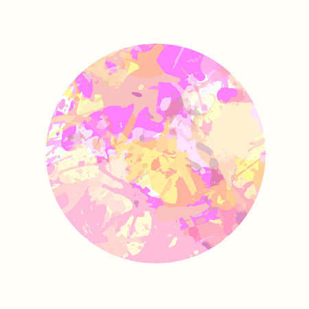 pastel colored: Pastel colored pink artistic paint splashes in a circle.