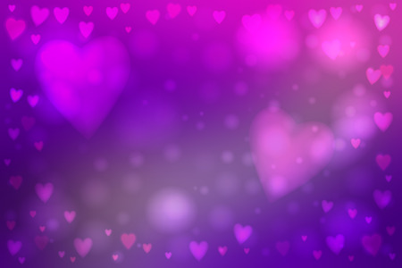 smooth background: Abstract smooth blur purple background with heart-shaped lights over it.