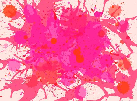vibrant: Vibrant bright pink watercolor artistic splashes background, horizontal format.