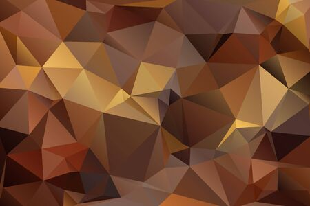 luminosity: Abstract triangular geometry background in brown color.