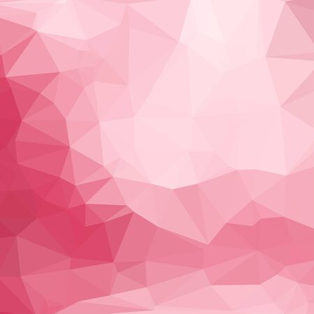 luminosity: Pink abstract square geometric background consisting of colored triangles.