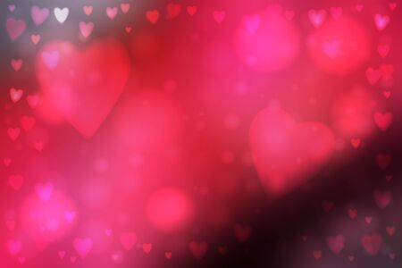 heartshaped: Abstract smooth blur pink background with heart-shaped lights over it. Illustration