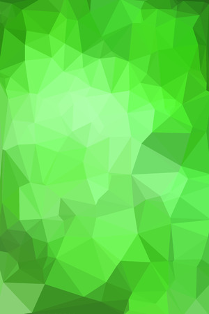 vertical format: Abstract green geometric background consisting of colored triangles. Low poly pattern, vertical format.