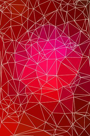fondo geometrico: geom�tricas de fondo rojo abstracto que consiste en tri�ngulos de colores y luz de malla. Bajo poli patr�n vertical. Vectores