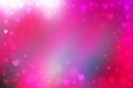 heartshaped: Abstract smooth blur pink background with small heart-shaped lights over it. Illustration