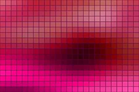 horizontal format: Abstract square mosaic tile pink background for any design, horizontal format. Illustration