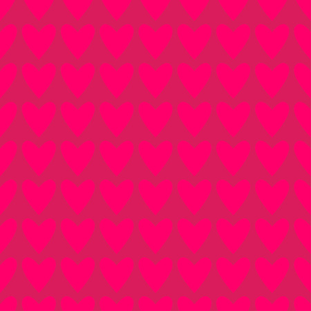 deep pink: Seamless deep pink hearts pattern. Valentines day tile background. Romantic vector pattern.