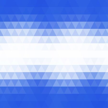 rows: Abstract geometric blue and white background formed with triangles in rows, square format.