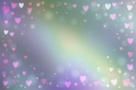 heartshaped: Abstract smooth blur background with small heart-shaped lights over it.