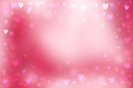 day dreaming: Abstract smooth blur pink background with small heart-shaped lights over it. Illustration