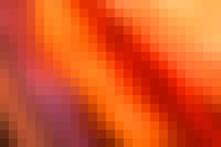 horizontal format: Abstract smooth mosaic tile orange background for any design, horizontal format.
