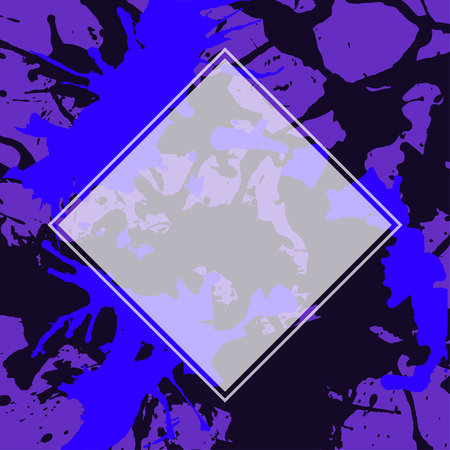 semitransparent: Template with semi-transparent white square over dark artistic paint splashes.