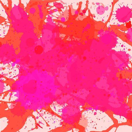 vibrant: Vibrant bright pink watercolor artistic splashes background, square format. Illustration