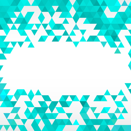 room for text: Turquoise blue abstract geometric frame background with room for text.