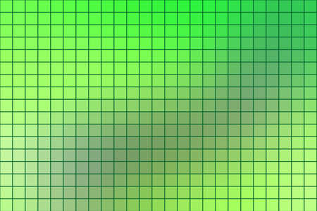 horizontal format: Abstract square mosaic tile green background for any design, horizontal format. Illustration