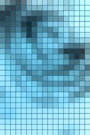 vertical format: Abstract square mosaic tile blue background for any design, vertical format.