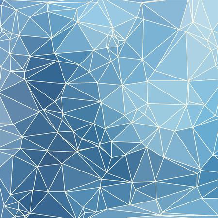 fondo geometrico: Fondo geom�trico azul abstracto que consiste en tri�ngulos de colores y luz de malla. formato cuadrado. Vectores