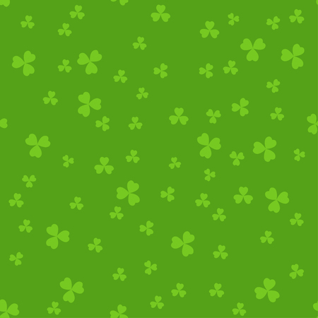 seamless clover: Simple seamless green St. Patricks day background with clover leaves.