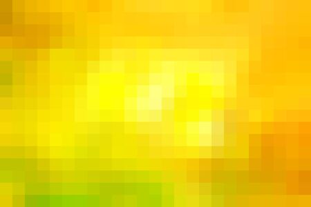 horizontal format: Abstract smooth mosaic tile yellow background for any design, horizontal format. Illustration