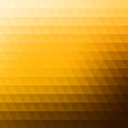 rows: Abstract geometric yellow background formed with triangles in rows, square format.