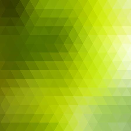 rows: Abstract green geometric background formed with triangles in rows, square format.