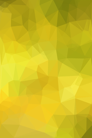 vertical format: Abstract geometric yellow background consisting of colored triangles. Low poly pattern, vertical format. Illustration