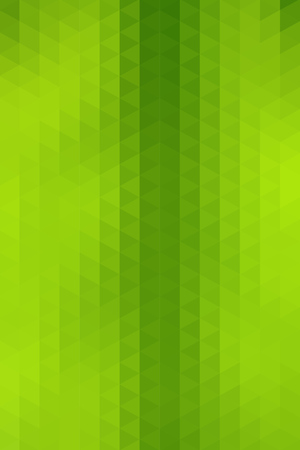 vertical format: Abstract green geometric background formed with triangles in rows, vertical format.