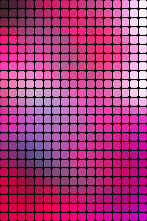 vertical format: Abstract pink mosaic background with square tiles over black, vertical format.