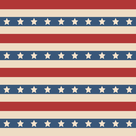 usa flags: American patriotic stars and stripes seamless pattern in vintage colors.