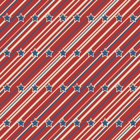 stripes seamless: American patriotic stars and stripes seamless pattern in vintage colors.