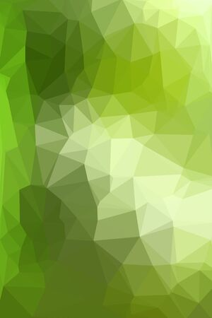 consisting: Abstract green geometric background consisting of colored triangles. Low poly pattern, vertical format.