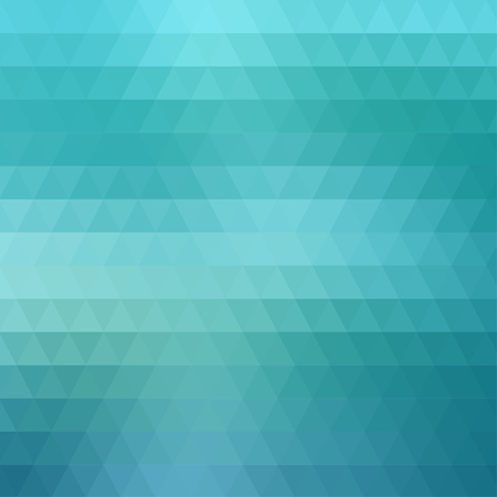 rows: Abstract aqua blue geometric background formed with triangles in rows, square format. Illustration