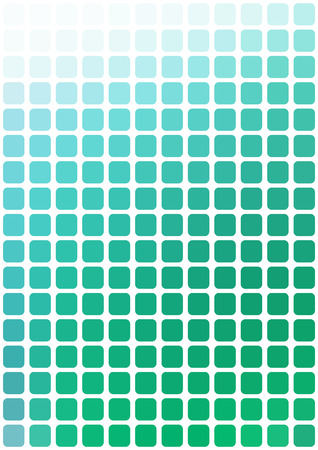vertical format: Vector abstract green mosaic background with rounded square tiles over white, vertical format.