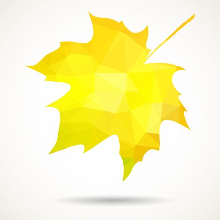 dropped: Maple leaf in triangular style with dropped shadow.