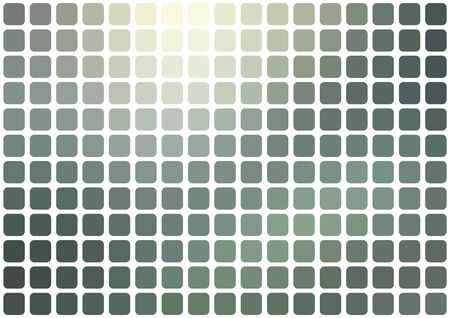 Vector abstract gray mosaic background with rounded square tiles over white, horizontal format.